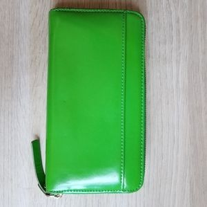 Green Kate Spade Wallet with Polka Dot Interior